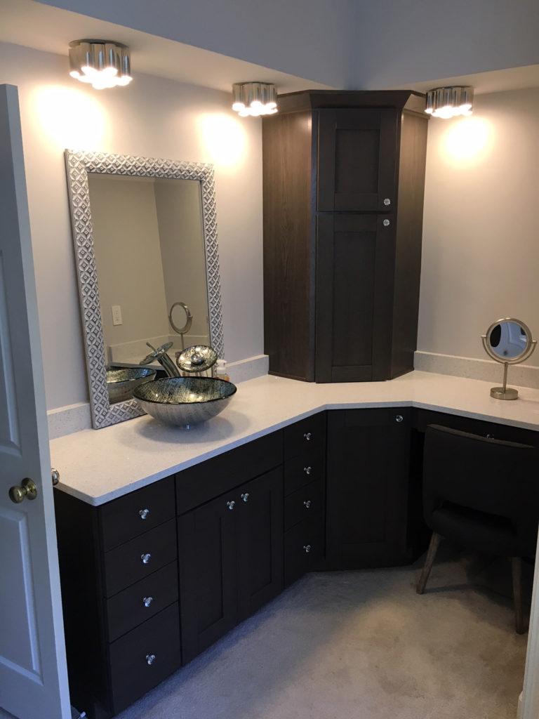 Kay master bath facelift marietta ga turner blair services Bathroom cabinets marietta ga